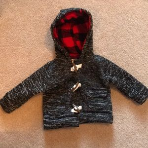 Carters Jacket Coat Toggle Buffalo Check 3 Months